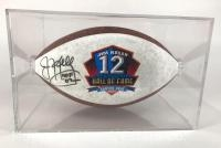 Jim Kelly Autographed Hall of Fame & JK Football