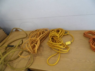Lot of 3 Extension Cords - Air Hose - Tote