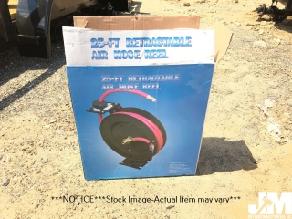 (UNUSED) 25'...... RETRACTABLE AIR HOSE REEL W/ HOSE, SPRING AUTO