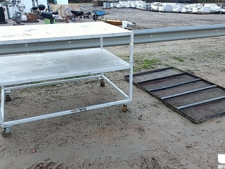 4'...... X 5.5'...... METAL SHOP TABLE, TAILGATE FOR LANDSCAPE TRAILER