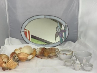 Shell Decor and Mini Tea Set
