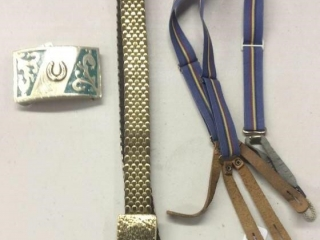 Turquoise colored Belt Buckle and Belt