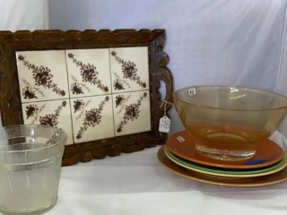 Vintage Tray & Kitchen Plates
