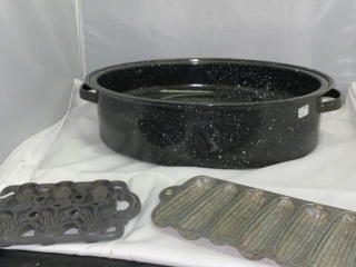 Roaster and Cast Iron Candy Molds