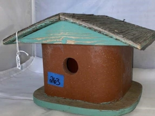 Clay/Wood Birdhouse