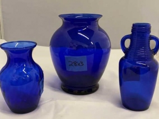 Cobalt  Blue Glass Vases