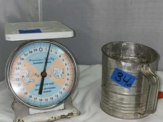 Old Sifter and Scale