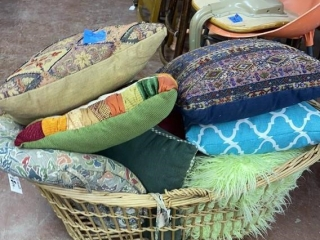 Pillows in Basket