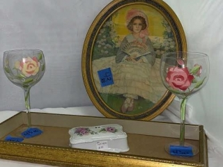 Vintage Paintings and Glass