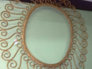 Vintage Wood Frame Oval