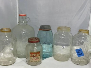 Glass Jars and Growler