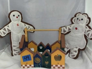 Wooden Basket and Old Dolls