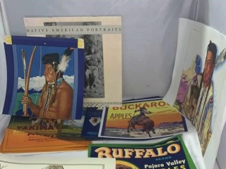 Native American Pictures & Fruit Labels