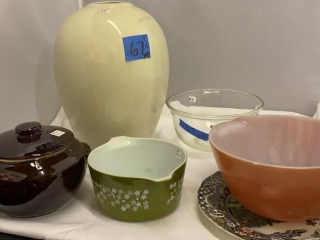Vase and Glass Dishes