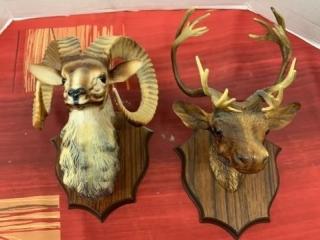 Plastic Plaques- Mountain Sheep- Elk- Scene