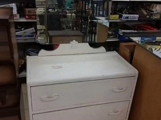 White 3 Drawer Dresser with mirror