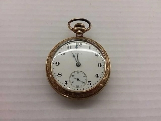 Antique ELGIN Gold Plated Pocket Watch