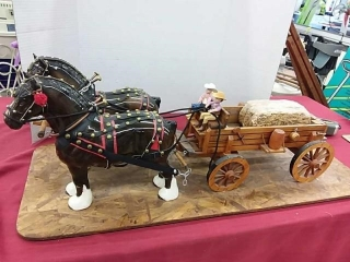 Heavy Horse Wagon Team, Very Nice