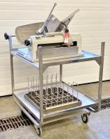Hobart #1612P Meat Slicer & Stainless Steel Cart