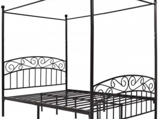 METAL CANOPY BED FULL SIZE