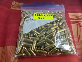 9mm Luger, Lot of 215