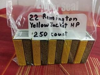 22 Remington Yellow Jacket HP, Lot of 250