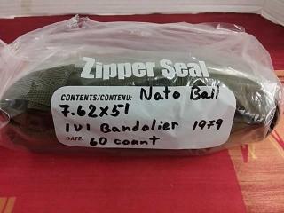 Nato Ball 7.62 x 51 IUI Bandilier 1979, Lot of 60
