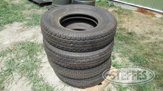 4 ST235 80R16 radial tires New 0 JPG