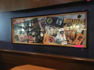 Bruins Framed Hockey Shadow Box   39 x 15