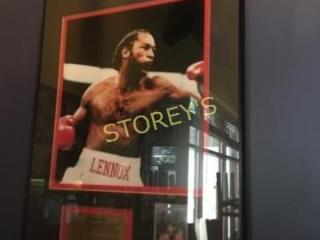 Framed lennox lewis Boxing Picture