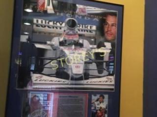 Framed Jacques Villeneuve Racecar Picture