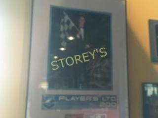 Framed   Signed Greg Moore Racecar Picture