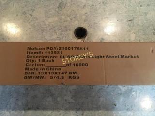 Cl SQ  Coors light Steel Market Patio Umbrella