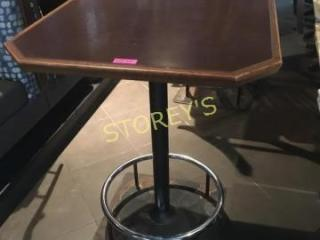 34 x 34 Bar Table w  Heavy Foot Rail Base