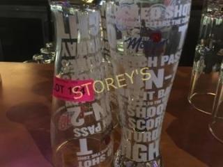 5 BP Beer Glasses
