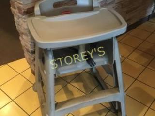 Grey Rubbermaid High Chair