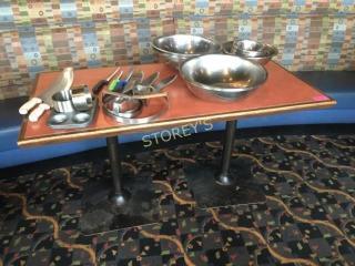 28 x 56 Dbl Pedestal Dining Room Table