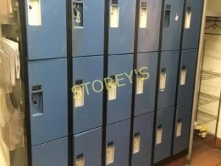 18 Bay Staff locker Unit   6  x 14 x 6