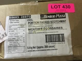 Portion Packed Scotch Mints   2000pcs