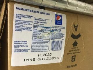 Box of Pepsi Syrup
