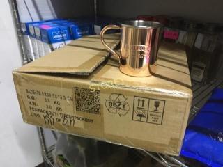 New Box of 24 Smirnoff Copper Mule mugs