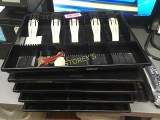 5 Cash Drawer Trays