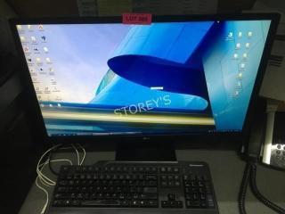 lG 28  Monitor w  Keyboard