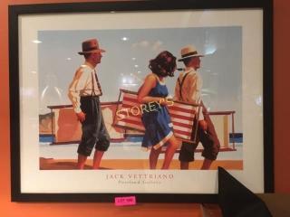 Jack Vettriano Beach Picture   34 x 26