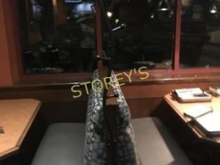 Black Swirl Booth Coat Rack   66