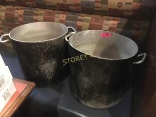 2 lG Alumin stock Pots