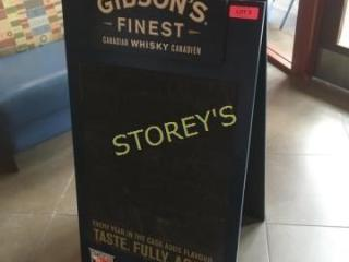 Gibson s Folding Sign   22 x 40