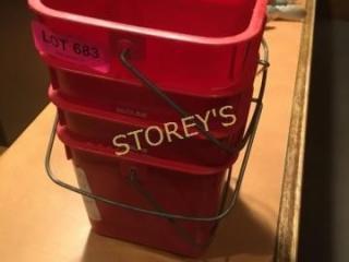 4 Grease Buckets