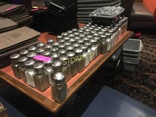100 Salt   Pepper Shakers