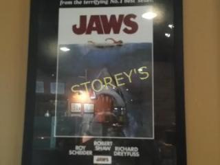 JAWS Framed Poster   30 x 41